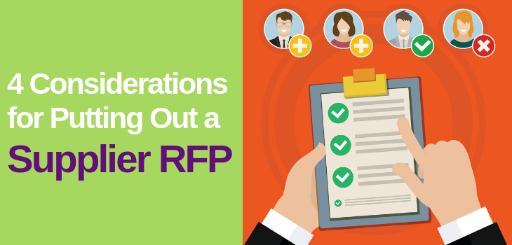 4 Considerations for Putting Out a RFP
